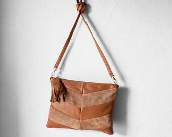 Leather Clutch in Caramel Brown / Leather Clutch / Leather Clutch Bag / Envelope Clutch /Clutch Bag / Leather Purse / Clutch Purse