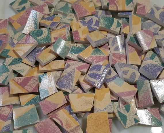 Mosaic Tiles 130 Nice Sizes Rose Mint Green Purple Fiesta
