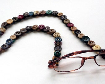 Eyeglass Chain in Vintage Buttons