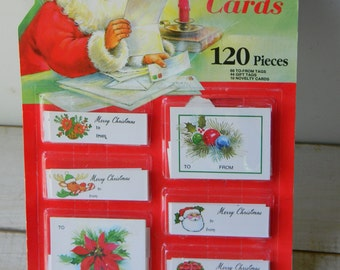 Vintage Christmas gift tags in package
