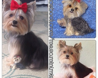 Custom Portrait of Your Pet by Gourmet Felted / Needle Felted Yorkie