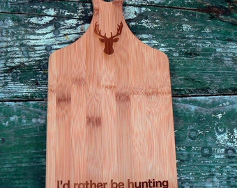 Hunting cutting board, stag, deer, gift
