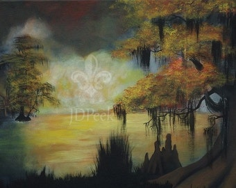 Autumn on the Bayou original painting 16x20