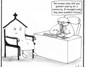 Church Futures CARTOON reproduction PRINT