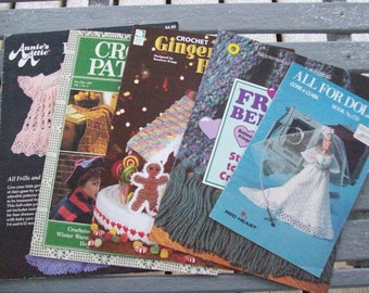 Patterns,Crochet,Supplies,Crafts,Annie's Attic,Baby,Heirloom,Dolls,Gingerbread,Fiber Arts