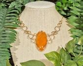 Crackle Agate Necklace - Gold Filled