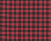 Burly Beavers Fabric, Hipster fabric, Buffalo Plaid, Plaid fabric, Red fabric, Robert Kaufman- Choose the cut. Free Shipping Available