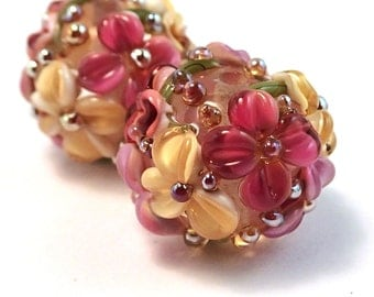 Giverny Gilded Crystal Floral Rounds