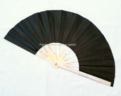 Leather and Steel Large Fighting War Fan **Made To Order  (CUS120)