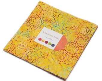 "Moda WILD WAVES BATIKS Layer Cake 10"" Precut Fabric Quilting Cotton Squares 4341LC"