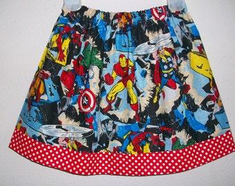 4t Superhero Skirt Avengers Skirt Super Hero Party Hulk Smash Skirt toddler skirt girls skirt Birthday Skirt Twirl Skirt Superheroes