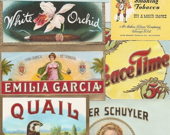55 different 1930s plus TOBACCO and CIGAR LABELS Due to the continuing Ofac sanctions against Cuba origin of labels from u.s.