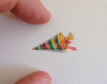 Miniature Painting of a schuletute by Brooke Rothshank
