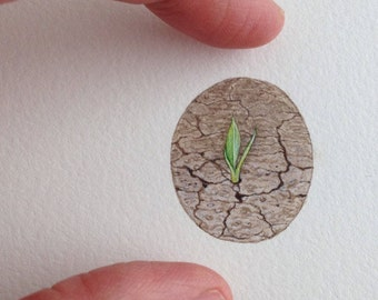 "FRAMED Miniature Painting of ""hope"" by Brooke Rothshank"