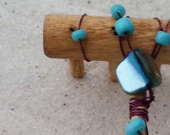 Mini Tabletop Zen Garden Rake - Turq II