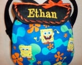 Sponge Bob Square Pants SALE 16% off backpack tote bag unisex for boys or girls Toddlers add a name great birthday gift
