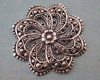 NEW Large Silver Filigree  3769
