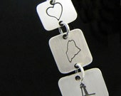 Love Maine Lighthouse Layering Sterling Silver Pendant Necklace