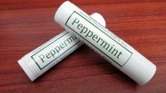 Peppermint Lip Balm (Handmade, Natural Moisturizing, skin protecting lip Balm, pocket size, travel size, gift idea) Stardust Soaps