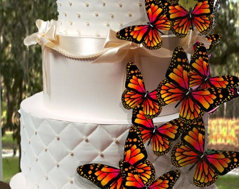 18 Edible Fall Butterfies Wafer Cake Decorations ,cupcake toppers,cookie toppers,birthday,cake decoration, Quantity 18