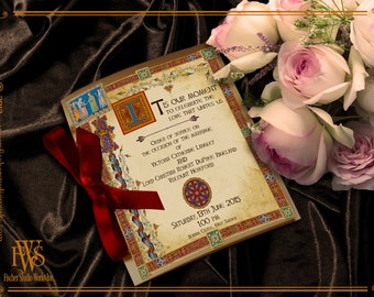 Medieval Manuscript Wedding Program