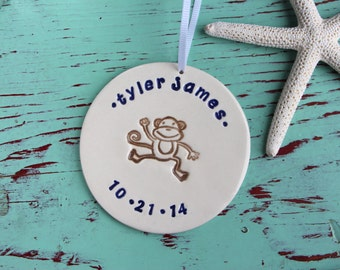 Baby's Christmas Ornament, Custom Ornament with Birthdate, Personalized Ornament with Baby Name and Birthdate, Baby's Christmas Ornament