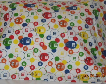 M & M  Pillowcase