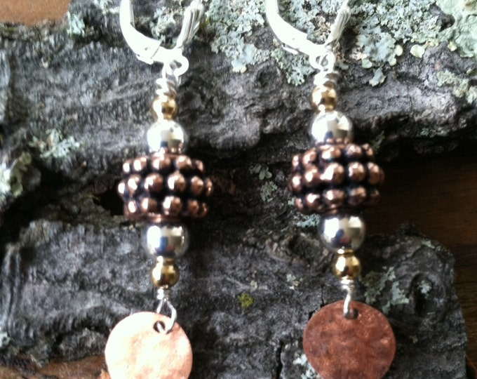 Featured listing image: Copper & Sterling Two Tone Earrings