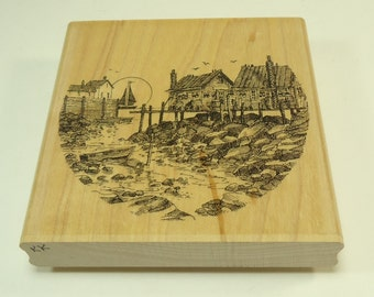 On The Rocks H 1290 Wood Mounted Rubber Stamp By Impression Obsession