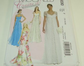 McCall's Create It Misses Dress Pattern M6030 Size 16-18-20