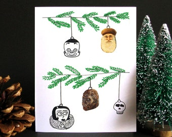 Funny Christmas Card, Funny holiday card, Christmas card, Holiday card, Weird Christmas, Tree, Ornaments, Gift idea - Christmas Tree