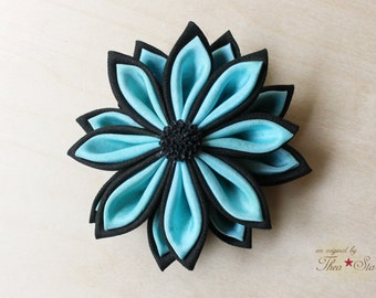 Alice and Black | Kanzashi Flower Hair Clip