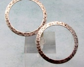 Large Hammered Ring, Antique Silver, 2 Pc. AS425