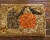 Pumpkins & Crows Hooked Rug