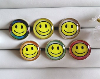 Smiley Face Adjustable Rings - Choose from 6 Colors