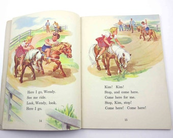 All in a Day Vintage 1940s Children's School Reader or Textbook by American Book Co.