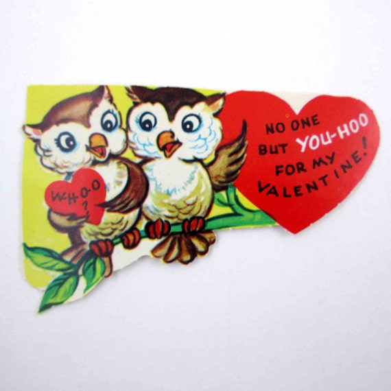 Valentines Day Vintage Owls Cards – Owl Valentines Day Cards