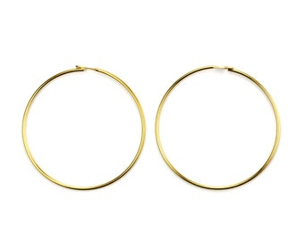 "Gold Plated Beading Hoop 1"" Round 23ga (12) FI813"