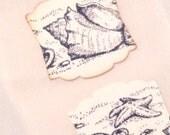 Custom listing for Melissa Seaside Seashell Stickers - Envelope Seals - Sandy Beach - Vintage Inspired Wedding Invitation Seals