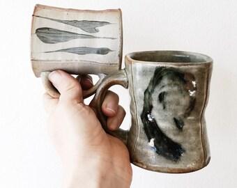Vintage Hand Thrown Studio Pottery Mug - right