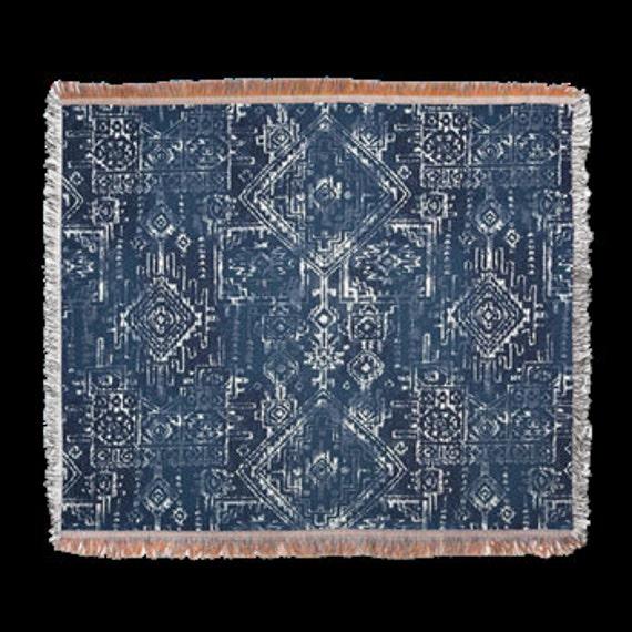 Blue Batik Design Throw Or Tapestry