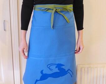 Barista apron in blue