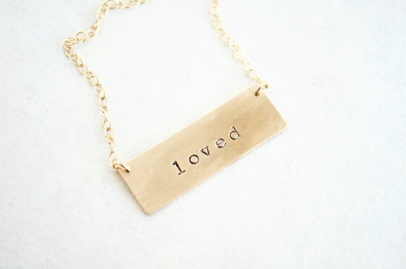 Custom Gold Bar Necklace - 14K Gold Fill, Personalized