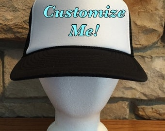 You Pick the Lyrics -Customized Personalized Trucker Hat (asst colors)