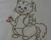 Kitten Nurse Dish Towel