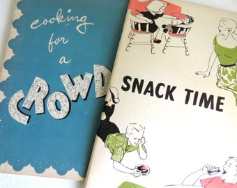 Vintage Cook Booklets -  Retro Recipes,  Kitschy Recipes Pamphlets - Lot of 2- Ephemera Lot - Party - Menus