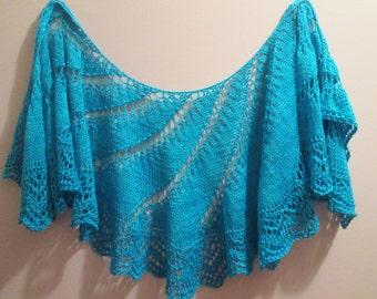Turquoise Twist Silk Merino Scarf