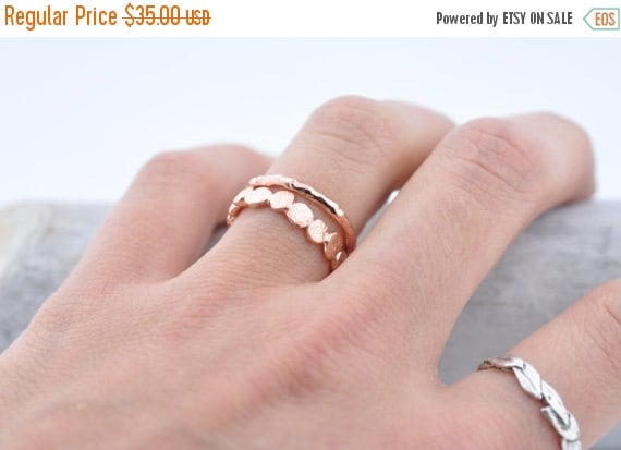 40% Off Sale Rose Gold Vermeil Raw Ring | Stacking Ring | Vermeil Ring