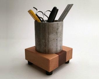 Industrial Style Pencil Holder - Pencil Cup - Desk Accessories - Office Decor - Office Organization - Pen Cup - Desktop Organizer
