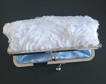 Petals White Bride Clutch